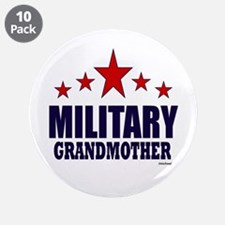 """Military Grandmother 3.5"""" Button (10 pack)"""