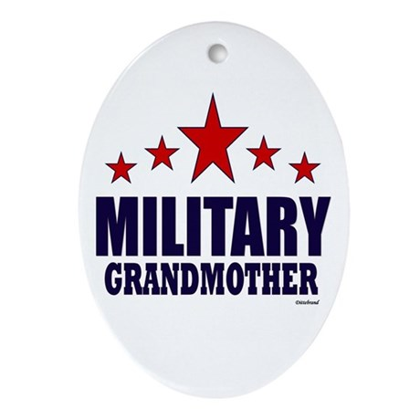 Military Grandmother Ornament (Oval)