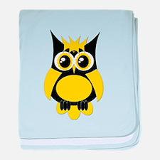Yellow Punk Owl baby blanket