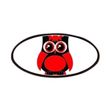Red Punk Owl Patches