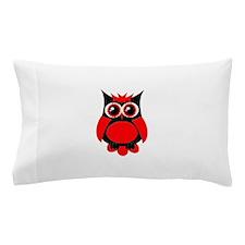 Red Punk Owl Pillow Case