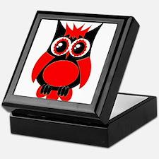 Red Punk Owl Keepsake Box