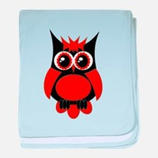 Red Punk Owl baby blanket