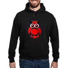 Red Punk Owl Hoodie