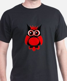 Red Punk Owl T-Shirt