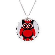 Red Punk Owl Necklace