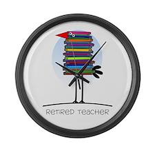 Retired Teacher II Large Wall Clock