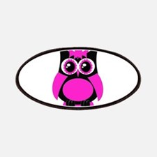 Hot Pink Punk Owl Patches