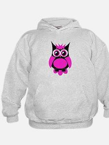 Hot Pink Punk Owl Hoodie