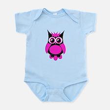 Hot Pink Punk Owl Infant Bodysuit