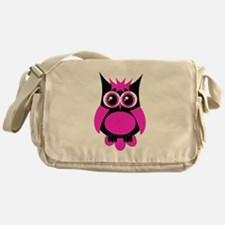 Hot Pink Punk Owl Messenger Bag