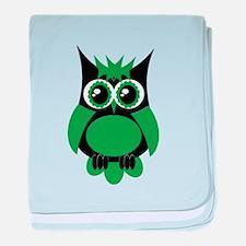 Green Punk Owl baby blanket