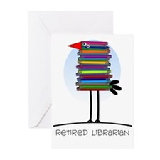 Retired Librarian Greeting Cards (Pk of 20)