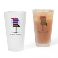 Retired Librarian Drinking Glass