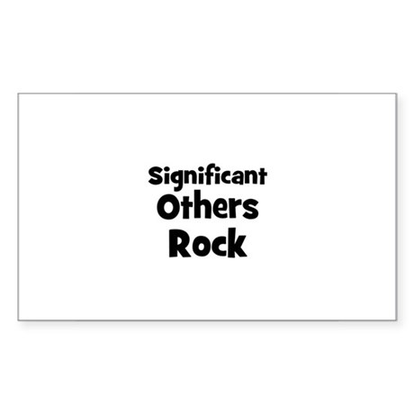 Significant Others Rock Rectangle Sticker