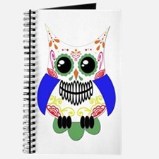 Colorful Sugar Skull Owl Journal