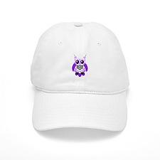 Purple White Sugar Skull Owl Baseball Cap
