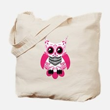 Hot Pink White Sugar Skull Ow Tote Bag