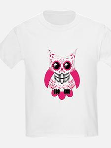 Hot Pink White Sugar Skull Ow T-Shirt