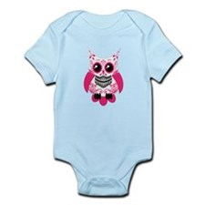 Hot Pink White Sugar Skull Ow Infant Bodysuit