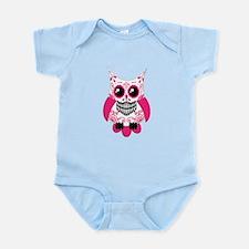 Hot Pink White Sugar Skull Ow Infant Bodysuit