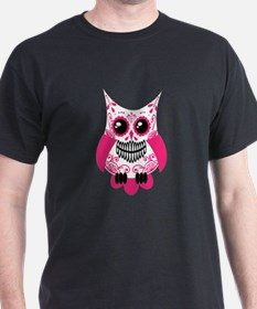 Hot Pink White Sugar Skull Ow T-Shirt