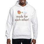 Cookie and Milk Couples Hooded Sweatshirt