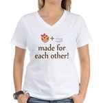 Cookie and Milk Couples Women's V-Neck T-Shirt