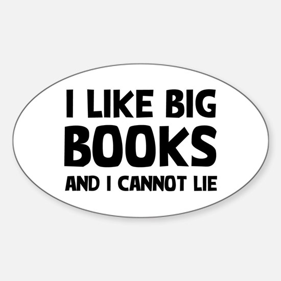 I Big Books Sticker (Oval)
