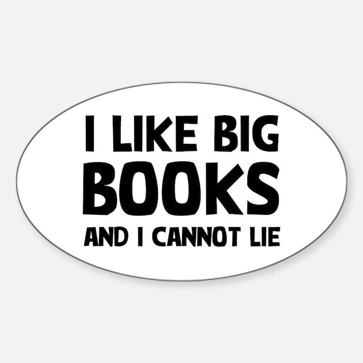 I Big Books Sticker (Oval)