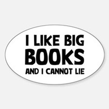 I Like Books Sticker (Oval)