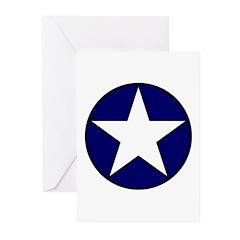 1942 USAF Aircraft Insignia Greeting Cards (Packag