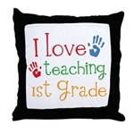 Love Teaching 1st Grade Throw Pillow