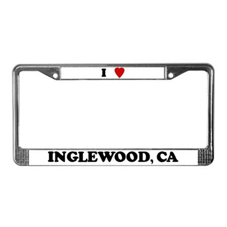 I Love Inglewood License Plate Frame