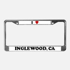 I Love Inglewood License Plate Frame