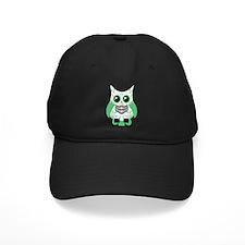 Green White Sugar Skull Owl Baseball Hat