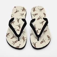Cute Sock monkeys Flip Flops