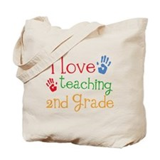 Love Teaching 2nd Grade Tote Bag