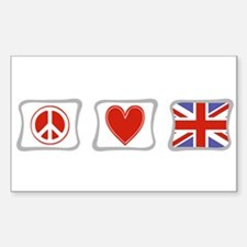 Peace, Love and Great Britain Decal