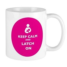 Keep Calm and Latch On Pink Mugs