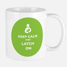 Keep Calm and Latch On Lime Mugs
