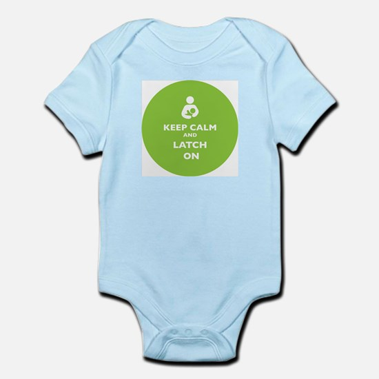 Keep Calm and Latch On Lime Body Suit