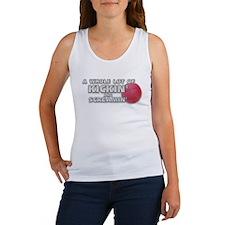 Kickball Kick Me (Back & Front Design) Women's Tan