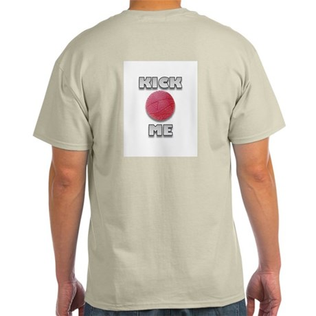 Kickball Kick Me (Back & Front Design) Ash Grey T-