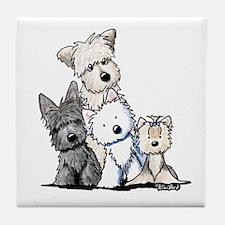 Terrier Time Tile Coaster