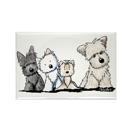 Terrier Time Rectangle Magnet