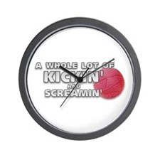 Screaming Kickball (Front) Wall Clock