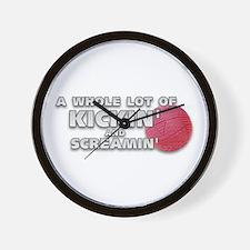 Screaming Kickball (Front) Wall Clock