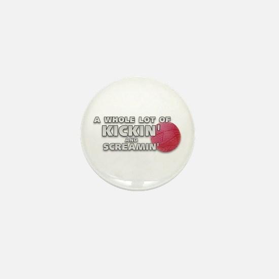 Screaming Kickball (Front) Mini Button