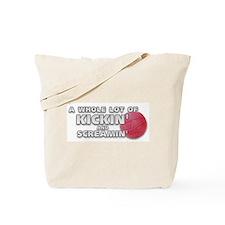 Screaming Kickball (Front) Tote Bag